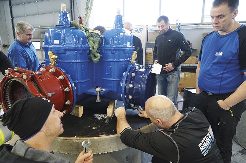 Montering av vannkum